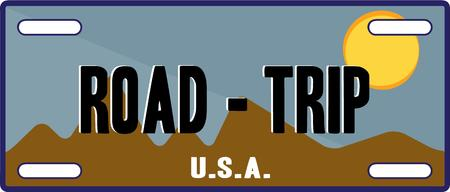 license plate: Pack your bags to hit the road with this specialty license plate.  This fun graphic is especially fun for vacation gear.