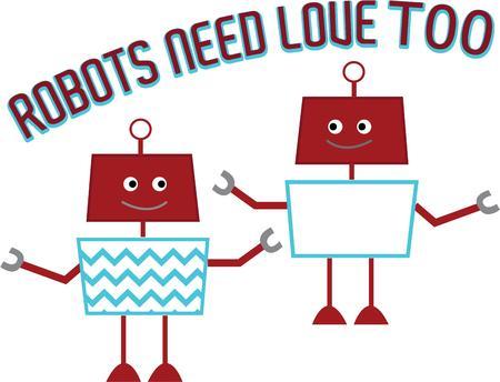 bionico: Questi robot sono allegri divertenti assistenti. La sezione centrale stampa chevron li distingue con questo modello di tendenza.