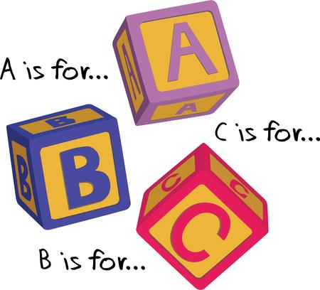for: Alphabet blocks are a classic childs toy but also an aid for learning and motor skill development.  We love these blocks for teacher projects like bags and shirts.
