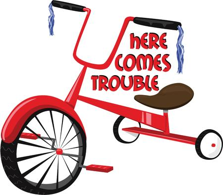 tricycle: The little peoples first mode of transportation  a tricycle.  Handle bar tassels help make this a super bike