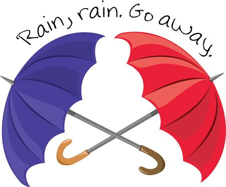 brolly: Be prepared you never know when you might need an umbrella  or two  You can even use this design on an umbrella Illustration