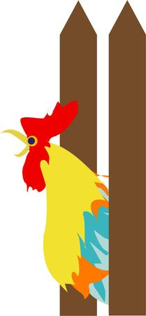 crowing: Wake up with the sounds of the country with our colorful crowing rooster.  Add this charm from the country to your special creations.