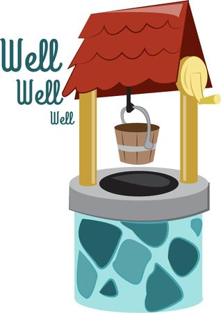come in: Throw a coin in the wishing well and your wish will come true.  Make your crafting dreams come true with this colorful design.