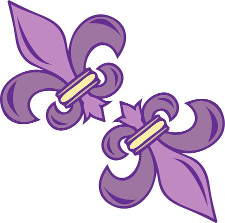 orleans symbol: Lovely fleur de lis are a graceful decoration for your projects.  Guaranteed to add the touch of lovely lilies wherever you place it.