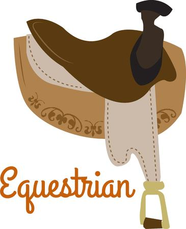 dressage: Heres a proper English saddle for the dedicated dressage rider.  This lovely equine accessory is perfect for tack bags or off field shirts.