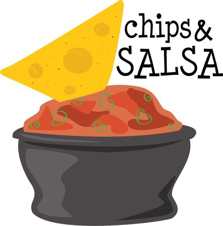 chips and salsa: Chips and salsa should be in a food group of their own.  Thankfully we are serving in a big bowl