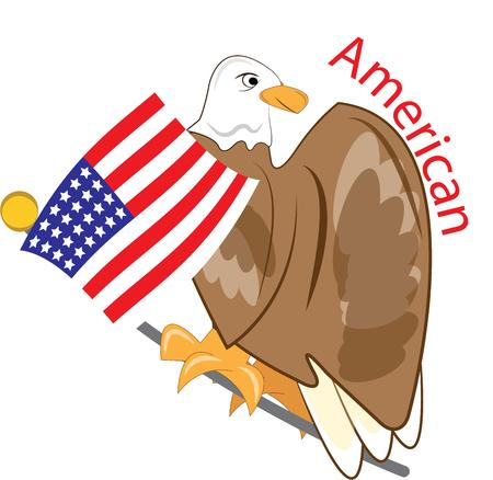 the americas: Americas symbols come together in this design featuring the bald eagle and stars and stripes.  Perfect design for 4th of July festivities!