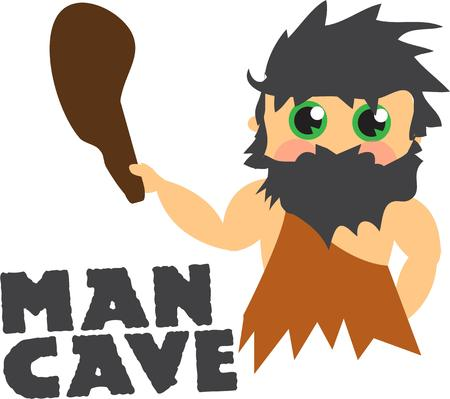 homo sapiens: No need to fear this cave man  Hes a real cutie. Illustration