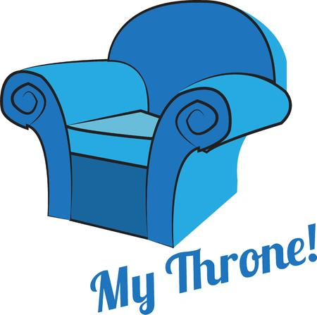 arm chair: A favorite comfy chair is a wonderful find.  We have found your chair for you have a seat Illustration