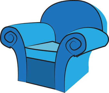comfy: A favorite comfy chair is a wonderful find.  We have found your chair for you have a seat Illustration