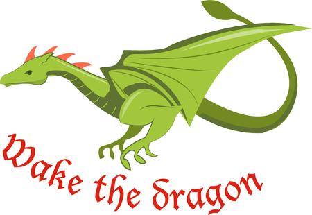 him: This fierce dragon adds a mighty touch.  Big wings and a mighty tail make him a strong advisory.