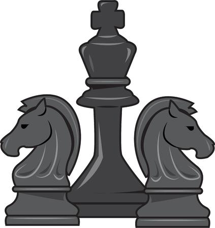 king master: Chess is a game of planning and strategy.  Execute your strategy for a stunning creation with these chess pieces.