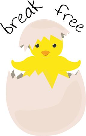 sprung: Spring has sprung and what a fitting symbol of the season  a spring chick.  Fresh from the egg this little guy couldnt be cuter. Illustration