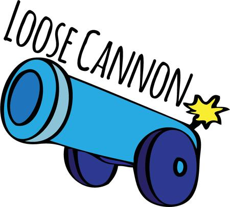 decorate: Decorate with a bang This cannon is lit and ready to fire. Illustration
