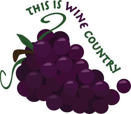 this: Say it with a perfect bunch of grapes.  This big bunch is absolutely perfect at getting a message across