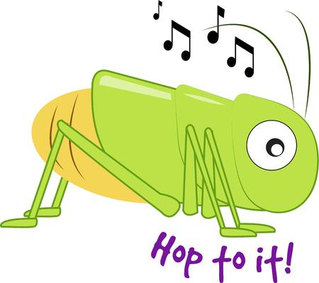 locust: This whimsical cricket with his big expressive eyes chirps a happy song.  We love him for kid gear and apparel.