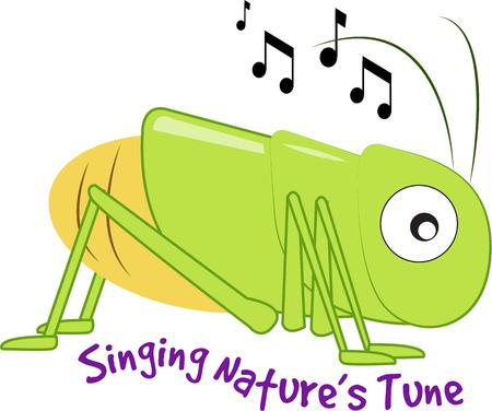 love song: This whimsical cricket with his big expressive eyes chirps a happy song.  We love him for kid gear and apparel.