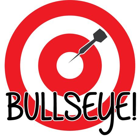 bulls eye: Here is a graphic of encouragement.  Stay on target and aim high with this bulls eye design.