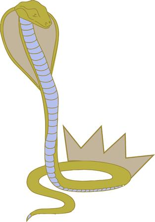 king cobra: He is fierce and deadly.  This viper is ready to strike to stand back Illustration