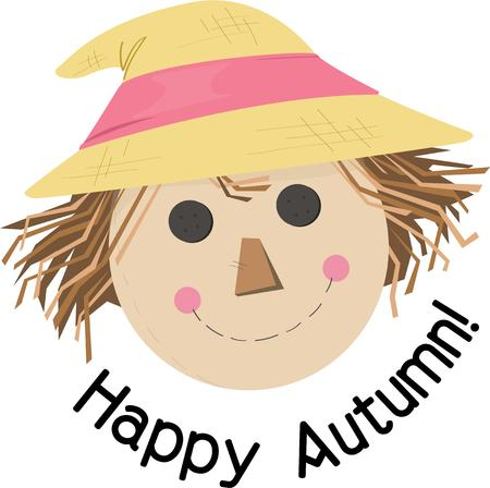 hayman: This little scarecrow is much too cute to scare anybody.  What a fun addition to fall festivities.