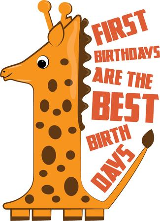 first birthday: One giraffe makes a cute decoration for baby nursery gear.  Try it on the first birthday shirt