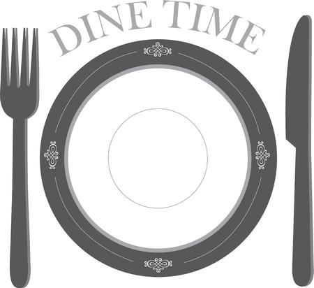 await: Dinner is served.  A place setting of fine china and silverware await your dinner guests.