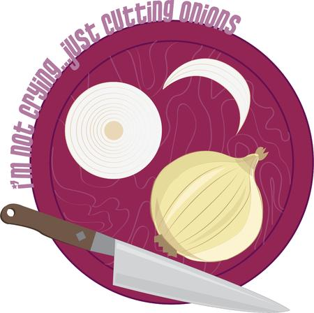 provide: Onions have to be the most used ingredient.  A knife and board provide the tools needed to shape this ingredient to meet the recipe.