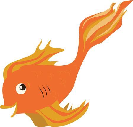 oranda: Nuotate nella vostra direzione con questo pesci rossi esotico. Non a tutti i vostri pesci media Vettoriali