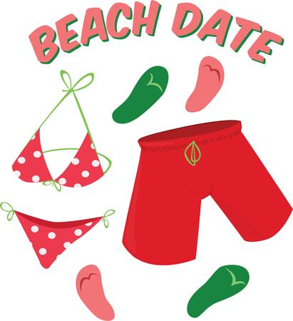 thong: Swim suits are a colorful fun way to embellish summer accessories.