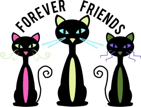 animal lover: Three sophisticated cats any animal lover would want.