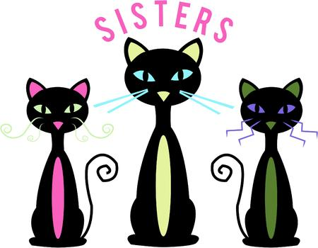 animal lover: Tres gatos sofisticados cualquier amante animal querr�a.