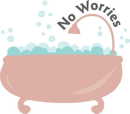 bubble bath: A bubble bath would be great on a childs bath towel.