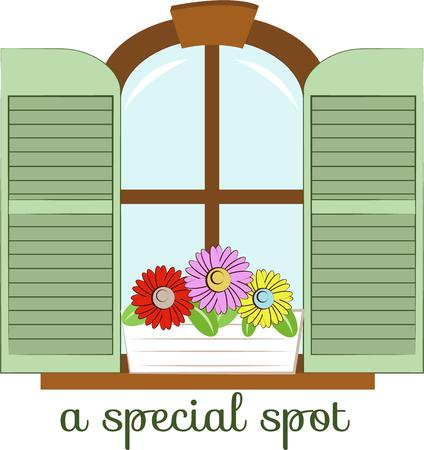 designate: Use this designs to designate your special spot. Illustration