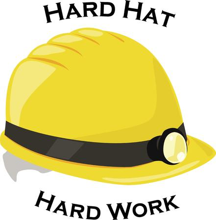 requirement: Hard hat required  Anyone doing heavy construction will appreciate this design of this work wear requirement. Illustration