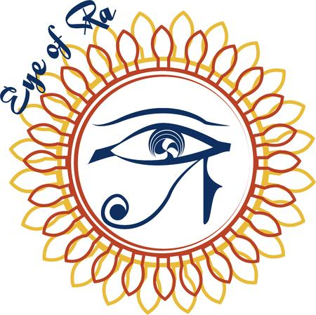 all seeing: Add a touch of the mystic with the all seeing eye from Egyptian mythology. The double frame make it a real eye catcher