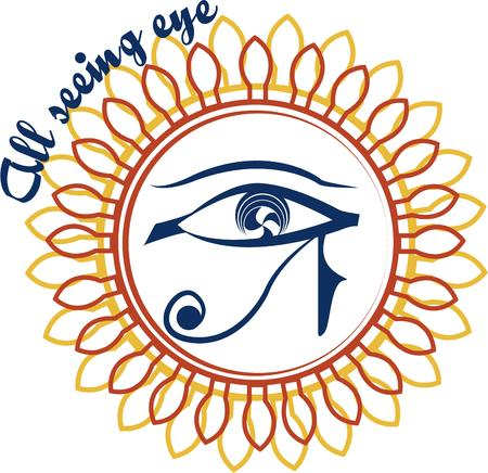 egyptian culture: Add a touch of the mystic with the all seeing eye from Egyptian mythology. The double frame make it a real eye catcher