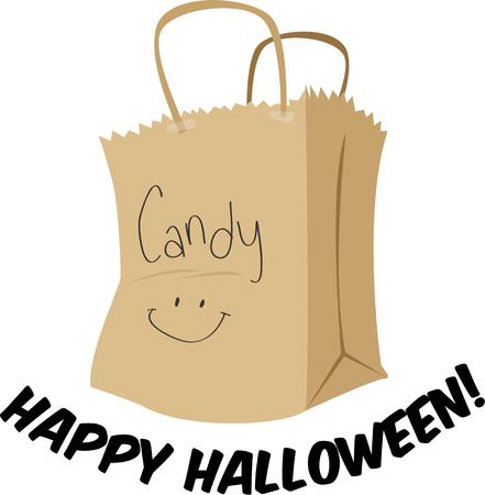 trick or treating: Go trick or treating with a bag of candy.