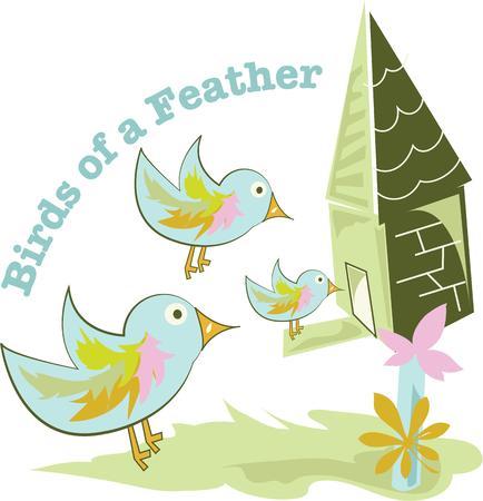 animal shelter: Bird lovers will enjoy this whimsical design.