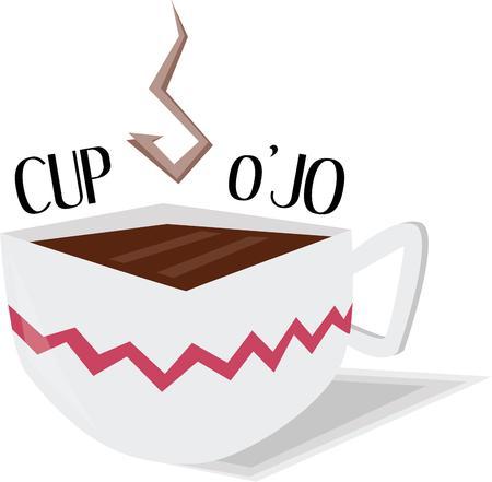楽しんで: Coffee lovers will have fun with this cup.