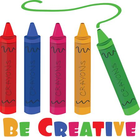 crayons: Children will like to be creative with crayons.