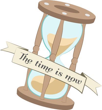 cronologia: El tiempo vuela Mantenga un registro con este reloj de arena. Completado con un mensaje especial.