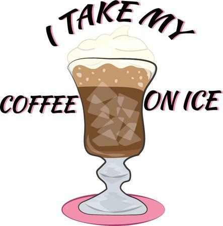summer day: Obtenga su dosis de cafe�na en un d�a caluroso de verano con un caf� helado delicioso. Se sirve en una taza de lujo con una corona de crema batida. Yum
