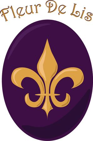 orleans symbol: This fleur de lis button makes a bold statement.  Subtle shading incorporates an element of depth for added appeal.