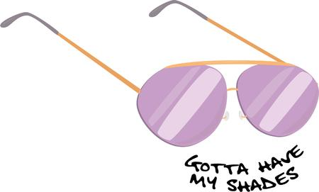 eye wear: Be cool with a pair of aviator sunglasses.