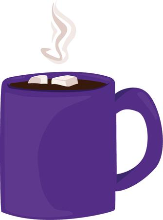 hot chocolate drink: A cup of hot chocolate is a great drink on a cold winter day. Illustration
