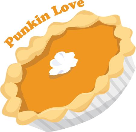 thanksgiving dinner: It isnt quite a Thanksgiving dinner without pumpkin pie  This pie is a perfect dessert with a dollop of whipped cream in the center Illustration
