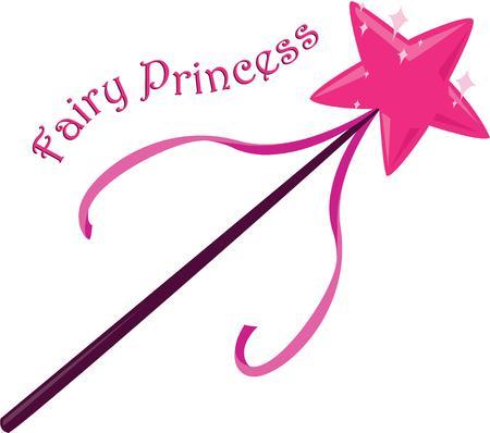 fairy: Turn a little girl into a fairy princess. Illustration
