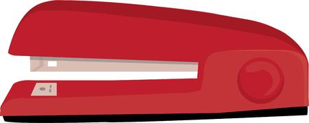 office stapler: A tool no office can be without  the stapler.  Put your project together with this classic red stapler.