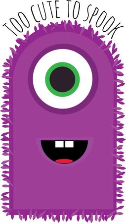 funny monster: Kids will love a funny monster for halloween.