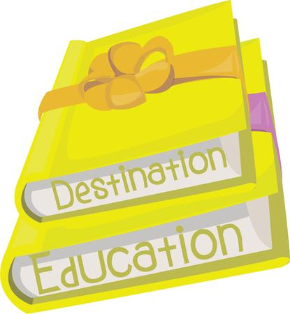 book bags: Get your school books ready for a lifetime of learning.  These books are perfect for library decorating or book bags. Illustration